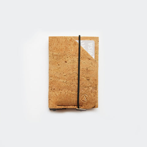Slim card wallet / cardholder / natural cork