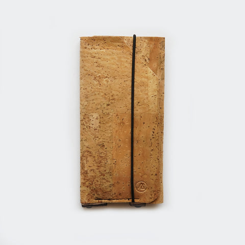iPhone sleeve case with card pocket / natural cork
