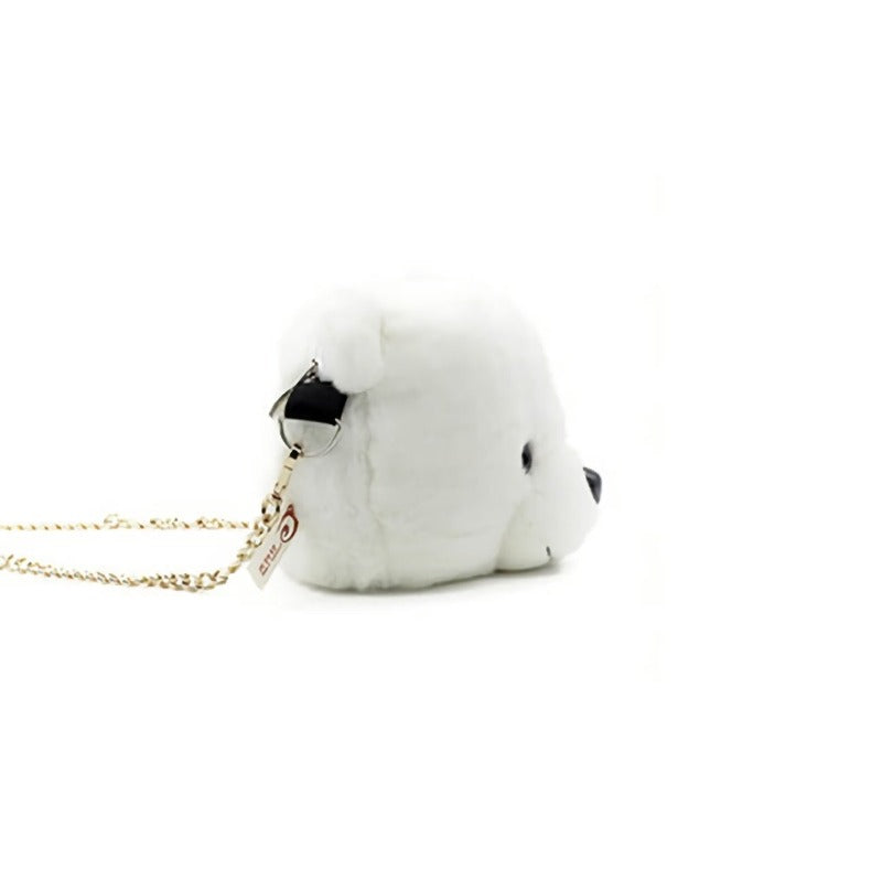 Cute Plush White Polar Bear Shoulder Bag