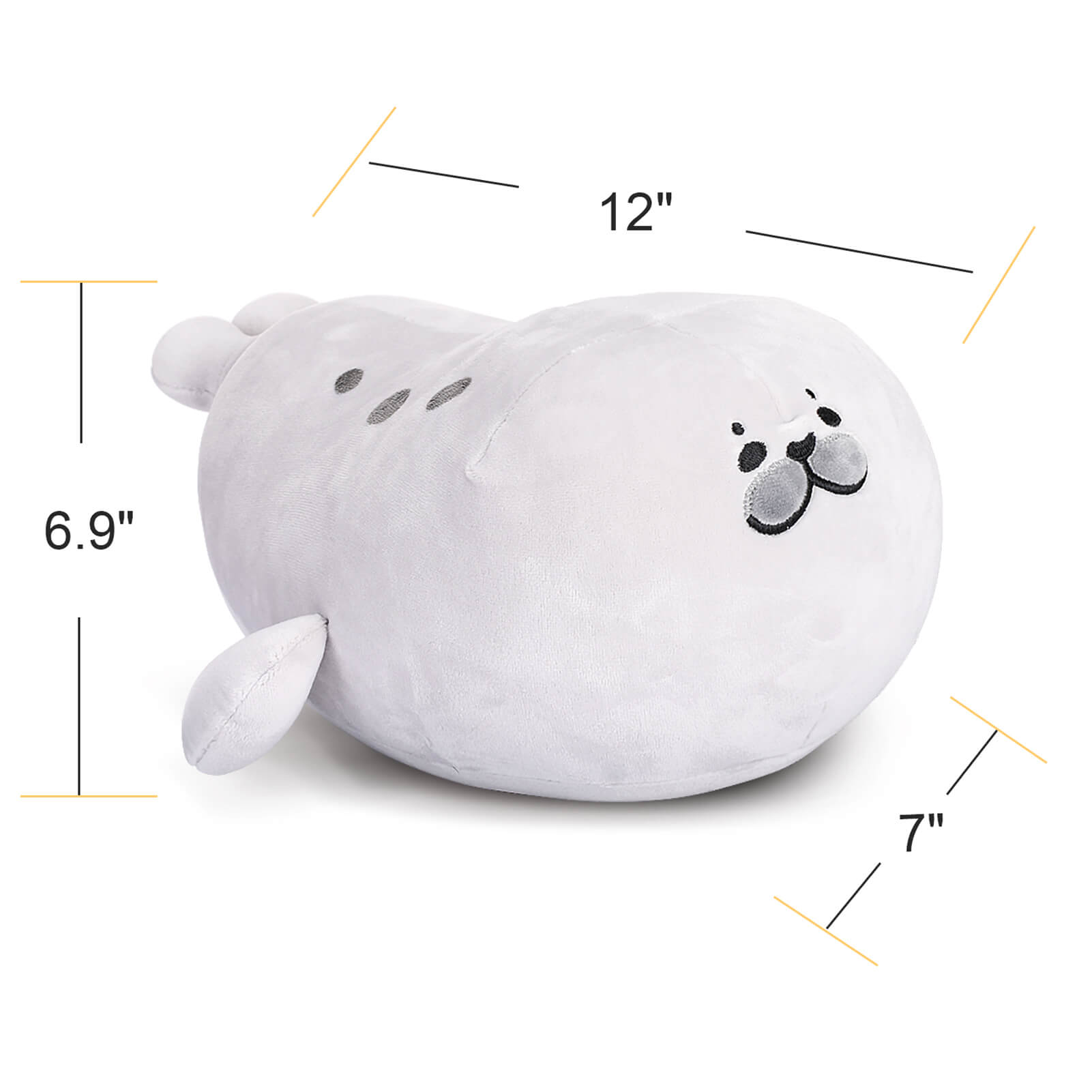 Fluffy Banana Pose Spotted Seal Plush Pillow Stuffed Plush Toys
