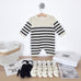 contents of crochet kit of breton baby onesie