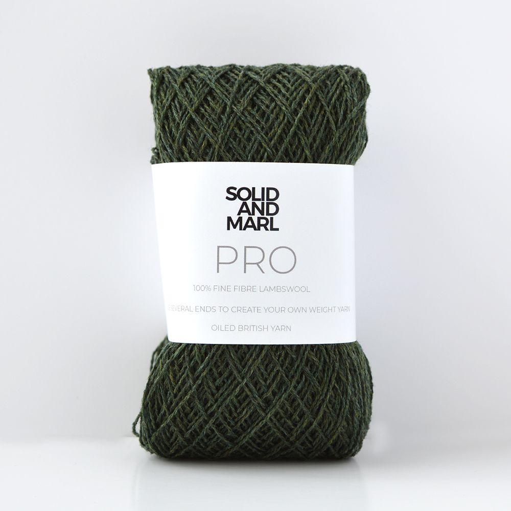 forest green crochet yarn lambswool