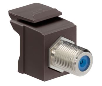 41084-FBF LEVITON Feedthrough QP F-Connector, Nickel, Brown