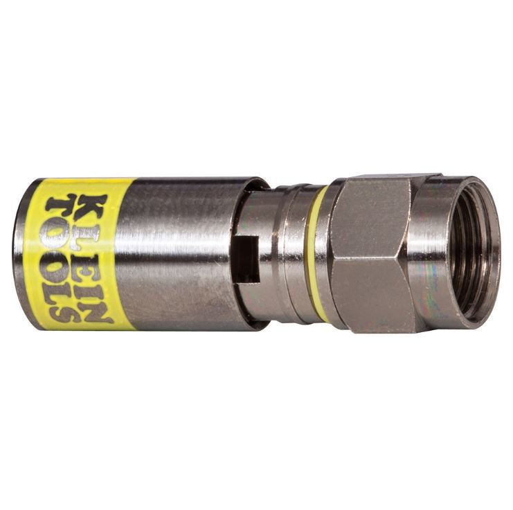 VDV812-612 Klein Tools Connector, F-Type Compression, RG6 Universal - Pack of 50