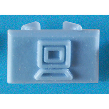 Ortronics OR-40326200 Data Icon, Blue, 100 Pack