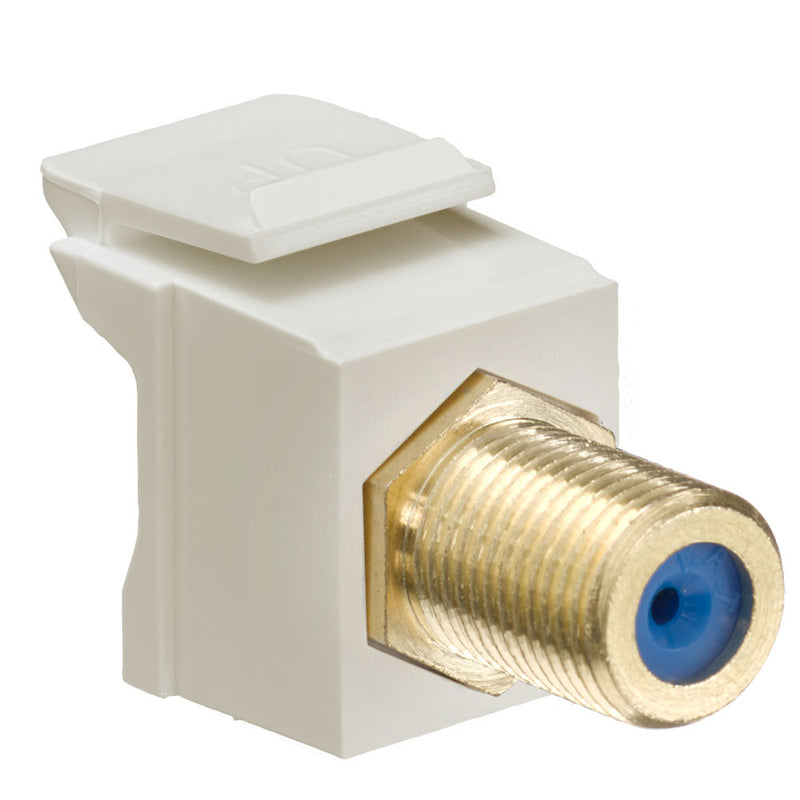 40831-FIGLeviton IV Q/PORT GOLD PLATED F-CONNECTOR FEM-FEM