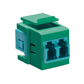 41085-LLV LEVITON QuickPort Duplex LC Adapter, 10G LOMM, Green