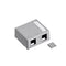 41089-2GP Surface Mount Box, Leviton QuickPort, 2 Port, Gray