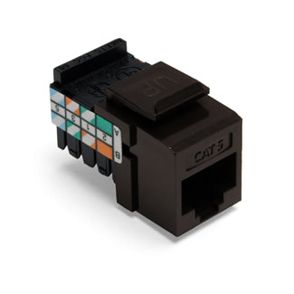 41108-RB5 Modular Jack, Leviton QuickPort, CAT5, Brown