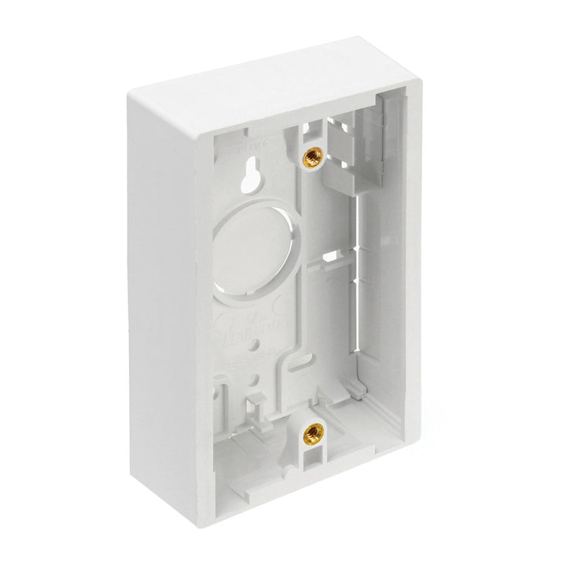 42777-1WB LEVITON Surface-Mount Back Box, Single Gang, 1.45\