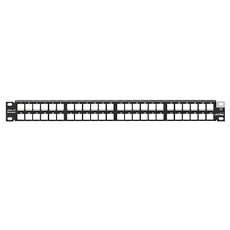4S255-D48 LEVITON Patch Panel, Atlas-X1, Shielded, 48-Port, 1RU