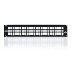 4S255-S48 Patch Panel, Leviton QuickPort, Atlas-X1 Shielded, 48 Port, Modular, Rack Mount