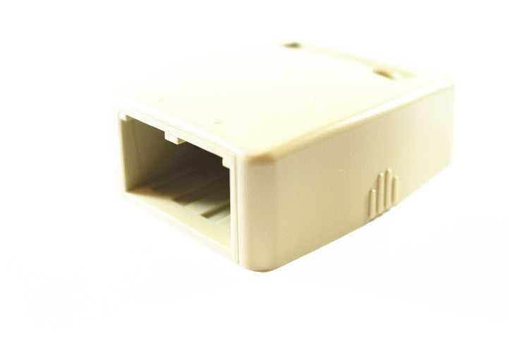 Panduit CBXQ2EI-A Mini-Com Low Profile 2 Port Quick Release Cover Surface Mount Box, Electric Ivory