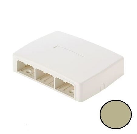 Panduit CBXQ6EI-A Mini-Com 6 Port, Quick Release Cover Surface Mount Box, Electric Ivory