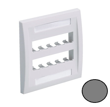 CFPE10IG-2GY, Panduit Mini-Com Faceplate: Executive, 10 Port - Gray (MOQ: 10; Increment of 1)
