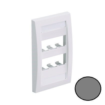 Panduit CFPE6IGY Mini-Com CFPE6IGY Faceplate, Gray