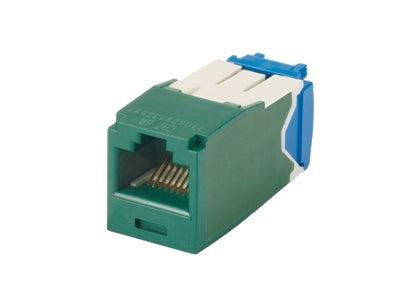 CJ6X88TGGR, Panduit Mini-Com | Module, Cat6A, UTP, 8-position, 8-wire, Unvi, Green (MOQ: 1; Increment of 1)
