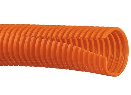 CLT188F-C3, Panduit Corrugated Loom Tubing: Panduit, 1.88 Inch Diameter, 100 Ft - Orange (MOQ: 1; Increment of 1)