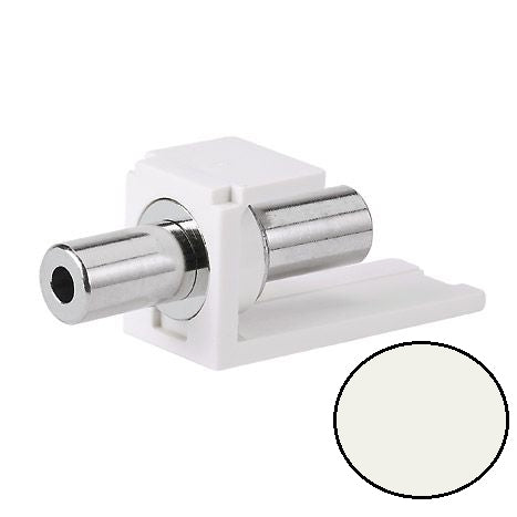 CM35MSCIWY, Panduit Mini-Com Modular Jack: 3.5mm Stereo Coupler - International (Off) White (MOQ: 1; Increment of 1)