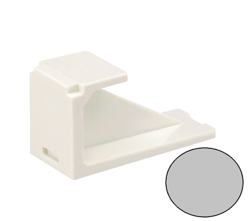 Panduit CMBIG-X Mini-Com 1 Position Blank Module, Gray
