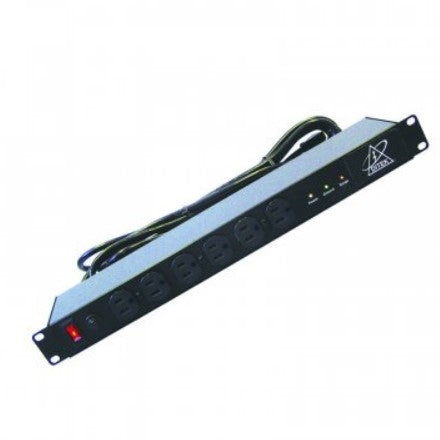 DTK-RMAC12 Surge Strip: Ditek, 12 Outlet, 15 Amp, Rack Mount