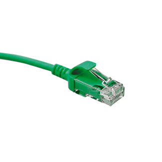 6H460-10G Mini Patch Cable, Leviton High-Flex HD6, CAT6, 10 Ft., Green