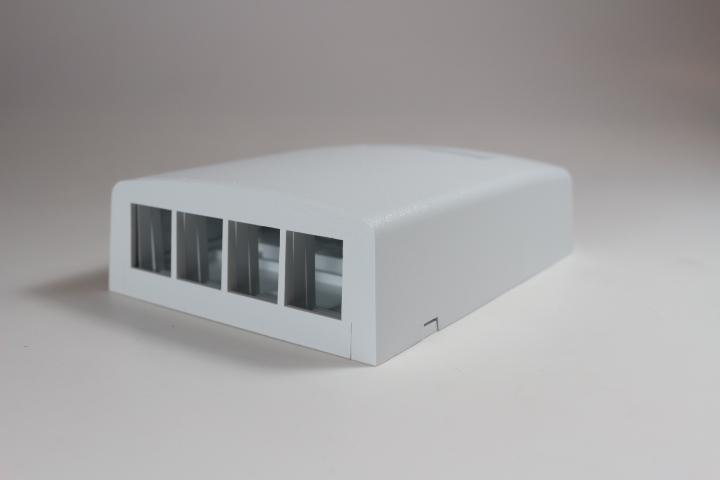 Panduit NK4BXWH-AY Netkey 4 Port Surface Mount Box, White