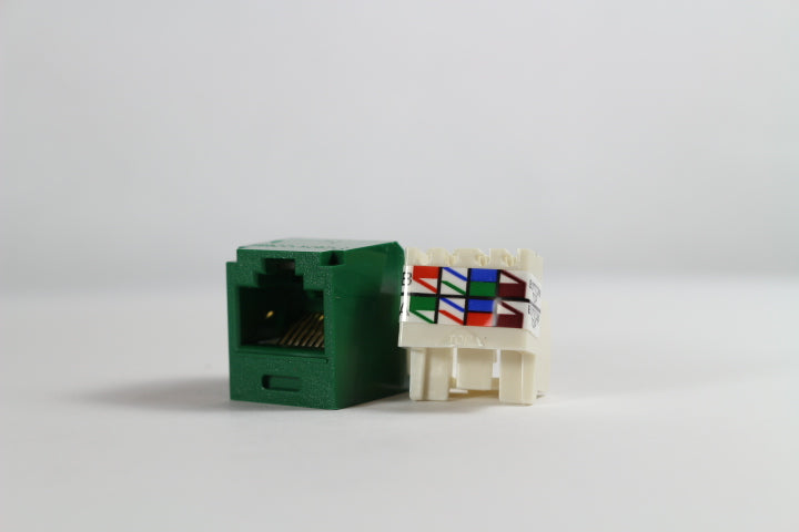 Panduit CJ688TPGR Mini-Com CAT6 TX6+ RJ45 Jack Module, Green