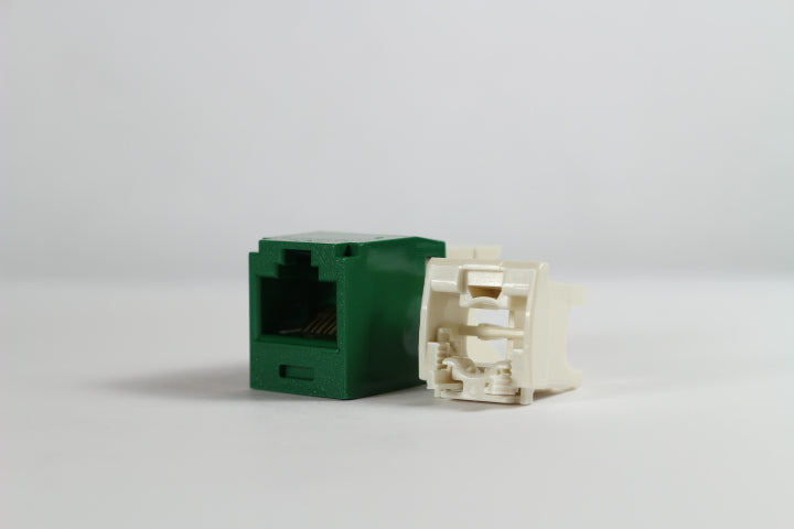 Panduit CJ688TGGR-24 Mini-Com CAT6 Giga-TX6+ RJ45 Jack Module, 24 Pack, Green