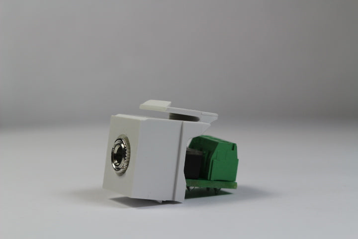Leviton 40839-SWS 3.5mm Stereo Speaker / Screw Terminals QuickPort Jack Module, White