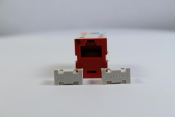 Ortronics OR-TJ600-42 CAT6 RJ45 TracJack Jack Module, Dark Red