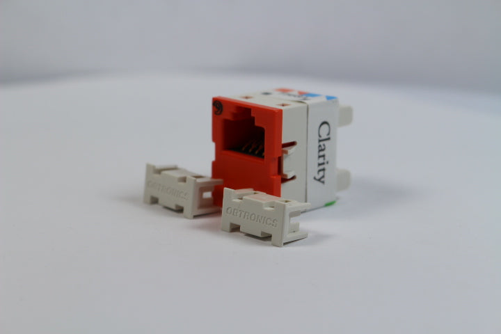 Ortronics OR-TJ600-43 CAT6 RJ45 TracJack Jack Module, Dark Orange