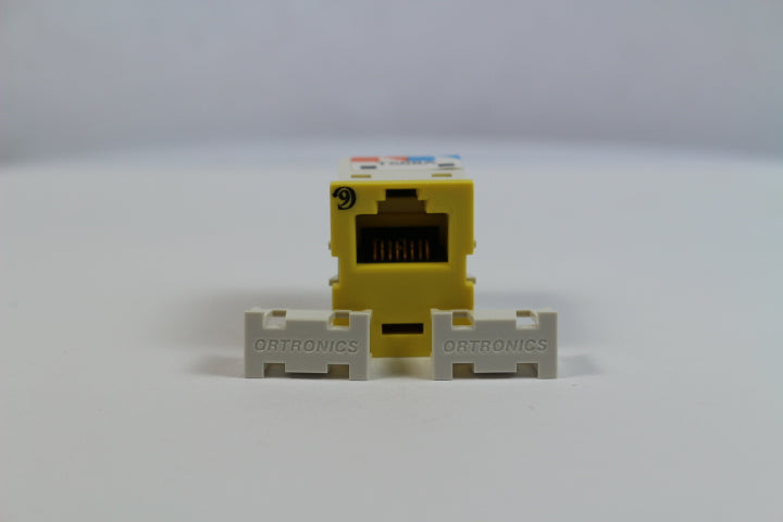 Ortronics OR-TJ600-44 CAT6 RJ45 TracJack Jack Module, Dark Yellow