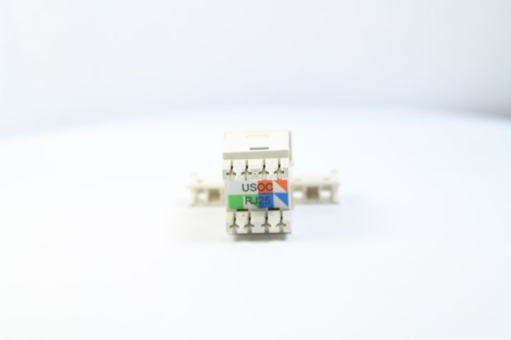 Ortronics OR-63700005 CAT3 RJ12 TracJack Jack Module, Fog (Off) White