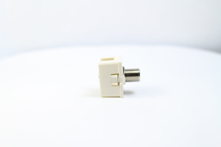 Ortronics OR-63700006 TracJack Type-F Jack Module, Fog (Off) White