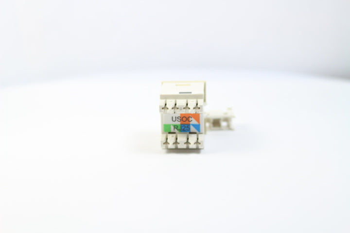 Ortronics OR-63700005-13 CAT3, RJ12 TracJack Jack Module, Electric Ivory