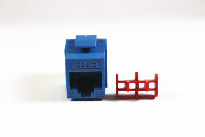 Belden AX104186 CAT5e RJ45 KeyConnect Jack Module, Blue