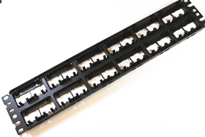 Panduit CPPL48WBLY Mini-Com Modular with Labels Rack Mount Patch Panel, 48 Port