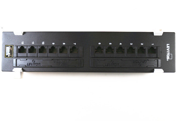 Leviton 5G596-U89 CAT5e Wall Mount Patch Panel, 12 Port