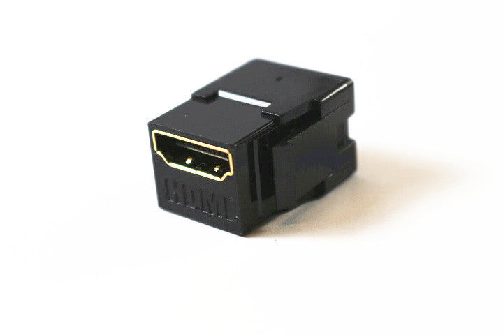 Leviton 40834-00E QuickPort HDMI Coupler Jack Module, Black