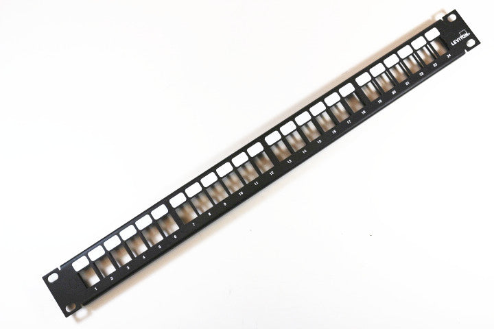 Leviton 49255-H24 QuickPort Modular Rack Mount Patch Panel, 24 Port