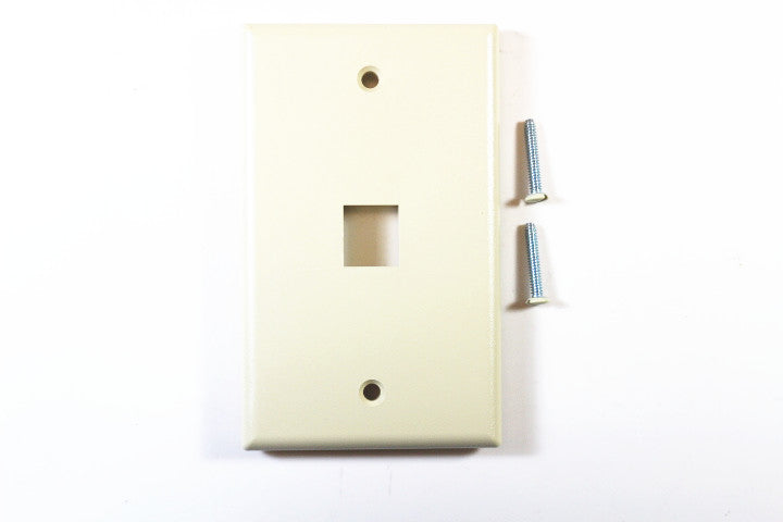 Leviton 41080-1IP QuickPort Faceplate, Ivory, 1 Port