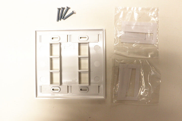 Leviton 42080-6WP QuickPort Faceplate, White, 6 Port