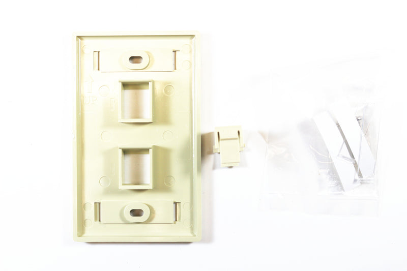 Belden AX104197 KeyConnect Faceplate, Ivory, 2 Port