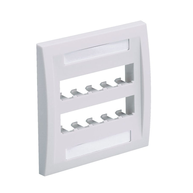 Panduit CFPE10WH-2GY Mini-Com Executive, 10 Port Faceplate, White