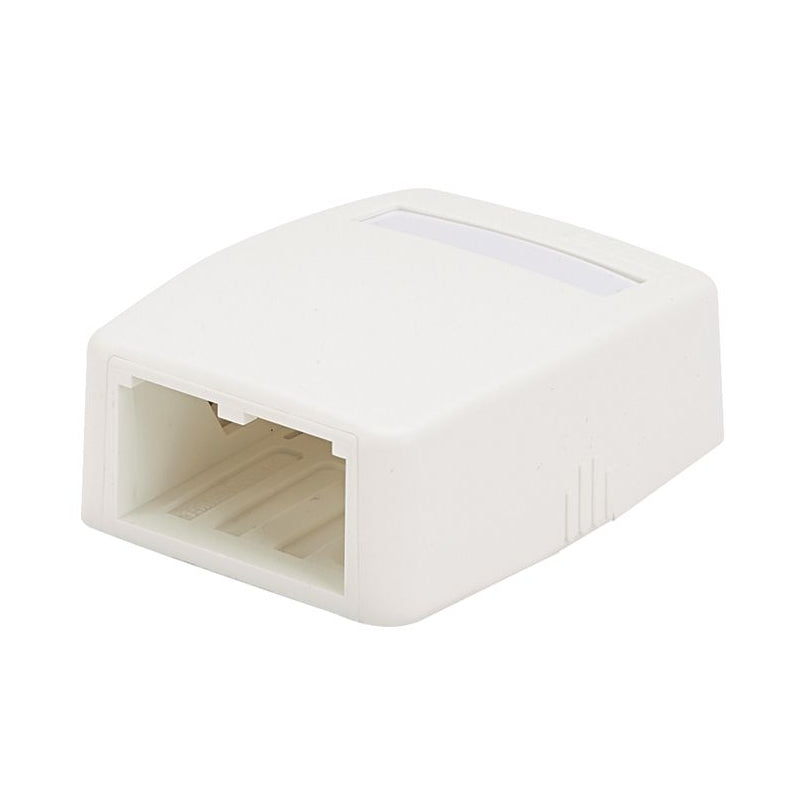 Panduit CBXQ2IW-A Mini-Com Low Profile 2 Port, Quick Release Cover Surface Mount Box, International (Off) White