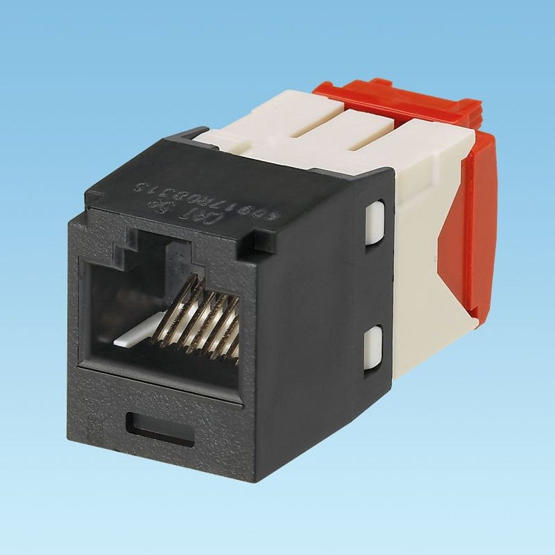 Panduit CJ5E88TGBL Mini-Com CAT5e Giga-TX5e RJ45 Jack Module, Black