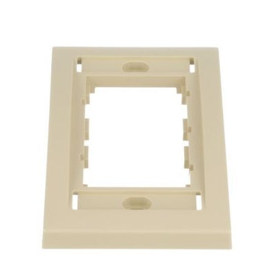 Panduit CBEEIY Mini-Com Executive, Single Gang Faceplate Frame, Electric Ivory