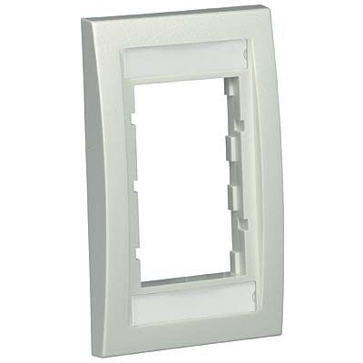 Panduit CBEWHY Mini-Com Executive, Single Gang Faceplate Frame, White