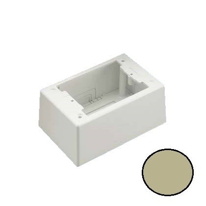 Panduit JBP1DEI Mini-Com Single Gang, Deep, Power Rated Junction Box, Electric Ivory